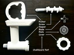 Different parts of meat grinder