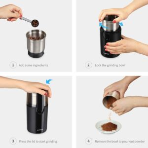 Features Of SHARDOR Electric Spice Grinder